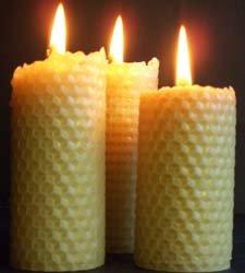 Bijenwas-kaarsen